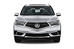 Car photography straight front view of a 2017 Acura MDX SH-AWD Advance & Entertainment Package 5 Door SUV