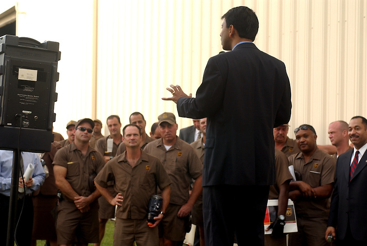 Rep. Bobby Jindal, R-La., 1st District, spoke to UPS employees  in Metairie, La., about commerce and freight mobility.