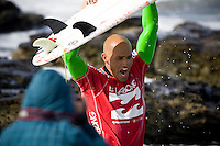 JEFFREYS BAY (Thursday, July 17 2008). The fifth event on the 2008 men's ASP World Championship Tour, the Billabong Pro, finished today at the Supertubes break, Jeffreys Bay, South Africa. Eight times world surfing champion KELLY SLATER (USA) won his fourth WCT event of the year, defeating MICK FANNING (AUS) in a wind effected final.Slater cemented his lead on the ASP ratings and moved closed to securing a ninth world title .Photo: joliphotos.com