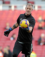 Burnley's Joe Hart during the pre-match warm-up <br /> <br /> Photographer David Shipman/CameraSport<br /> <br /> The Premier League - Arsenal v Burnley - Saturday 22nd December 2018 - The Emirates - London<br /> <br /> World Copyright © 2018 CameraSport. All rights reserved. 43 Linden Ave. Countesthorpe. Leicester. England. LE8 5PG - Tel: +44 (0) 116 277 4147 - admin@camerasport.com - www.camerasport.com