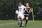 11 October 2009: Duke's Cody Newman (8) and Florida State's Tori Huster (9). The Duke University Blue Devils played the Florida State University Seminoles to a 0-0 tie after overtime at Koskinen Stadium in Durham, North Carolina in an NCAA Division I Women's college soccer game.