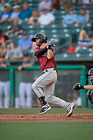 Levi Michael (5) of the Sacramento River Cats at bat against the Salt Lake Bees at Smith's Ballpark on July 18, 2019 in Salt Lake City, Utah. The Bees defeated the River Cats 9-6. (Stephen Smith/Four Seam Images)