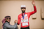 Nacer Bouhanni (FRA) Team Arkea Samsic wins the Points Red Jersey classification at the end of Stage 5 of the Saudi Tour 2020 running 144km from Princess Nourah University to Al Masmak, Saudi Arabia. 8th February 2020. <br /> Picture: ASO/Pauline Ballet   Cyclefile<br /> All photos usage must carry mandatory copyright credit (© Cyclefile   ASO/Pauline Ballet)
