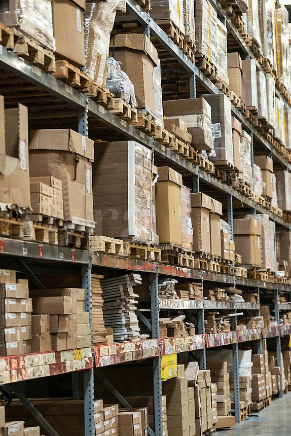 Warehouse storage of retail merchandise.