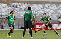 BELO HORIZONTE, MINAS GERAIS, 22 DE ABRIL 2013 - TREINO SELEÇÃO BRASILEIRA DE FUTEBOL - Alexandre Pato jogador da seleção brasileira de futebol durante sessão de treinamento na Minas Arena (Mineirão), na tarde desta terça-feira, 22. Amanhã o Brasil enfrenta o Chile no mesmo local. FOTO: WILLIAM VOLCOV / BRAZIL PHOTO PRESS.