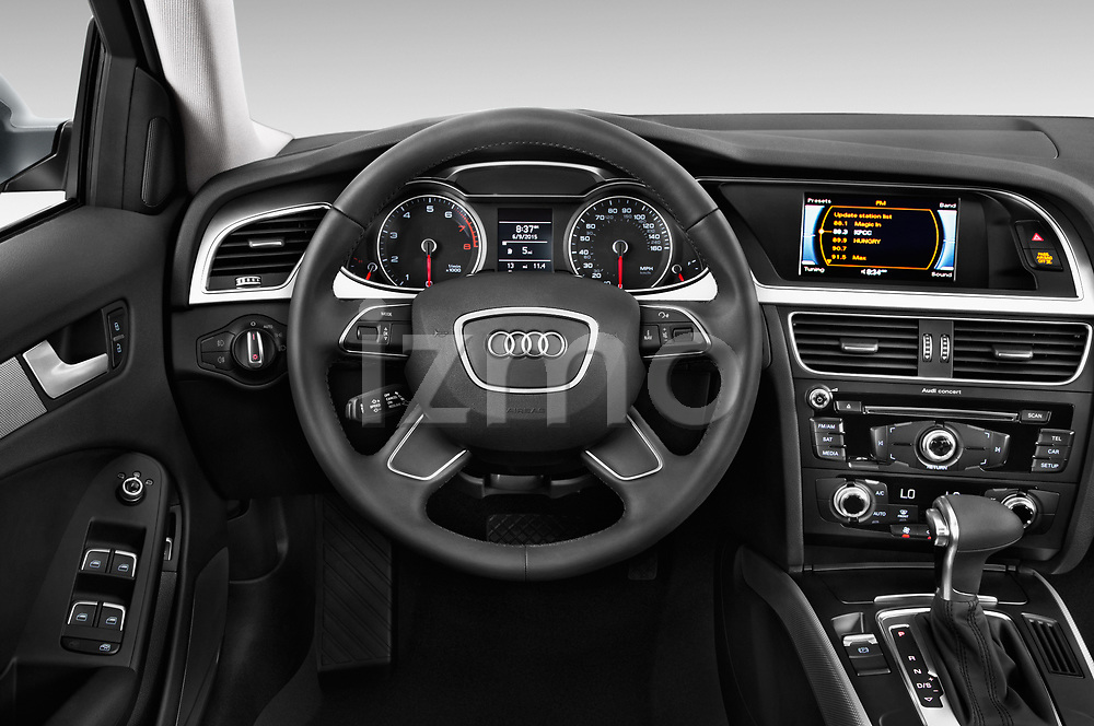 Car pictures of steering wheel view of a 2015-2016 Audi A4 Premium 4 Door Sedan