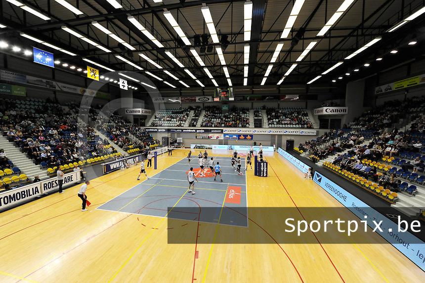 Knack Roeselare - Averbode : Schiervelde tijdens de laatste match van het seizoen.foto VDB / BART VANDENBROUCKE