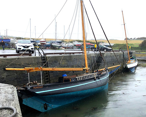 Naomh Cronan already rigged at Renville Quay at GBSC