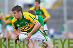 Gavin O'Grady breaks away from Limerick's David Finnerty in the Munster Junior Championship Semi final held in the Gaelic Grounds last Saturday..