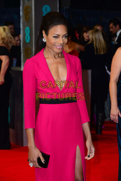 LONDON, ENGLAND - FEBRUARY 16:  Naomie Harris attends EE British Academy Film Awards (BAFTAs) at Royal Opera House, Covent Garden, on February 16, 2014, in London, England.  <br /> CAP/JOR<br /> &copy;Nils Jorgensen/Capital Pictures