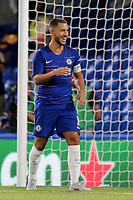 Eden Hazard of Chelsea is all smiles after scoring from the penalty spot to win the shoot out during Chelsea vs Lyon, International Champions Cup Football at Stamford Bridge on 7th August 2018