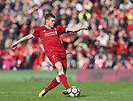 Liverpool's James Milner in action during the premier league match at the Anfield Stadium, Liverpool. Picture date 19th August 2017. Picture credit should read: David Klein/Sportimage