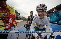 Marianne Vos (NLD) at the startline<br /> <br /> UCI Worldcup Heusden-Zolder Limburg 2013