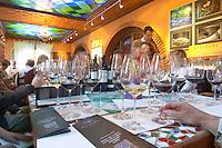 Wine tasting. Clos de l'Obac, Costers del Siurana, Gratallops, Priorato, Catalonia, Spain.
