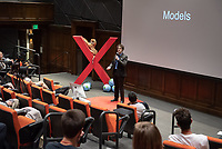 "Gerald ""Jay"" Daigle, Non-Tenure Track Assistant Professor, Mathematics, talks about ""Model Disagreement.""<br /> Occidental College hosts TEDxOccidentalCollege on April 21, 2018 in Choi Auditorium of Johnson Hall. Students, faculty, alums and guest speakers delivered their TEDx Talk on the theme, Shifting Ecosystems of Power.<br /> (Photo by Marc Campos, Occidental College Photographer)"