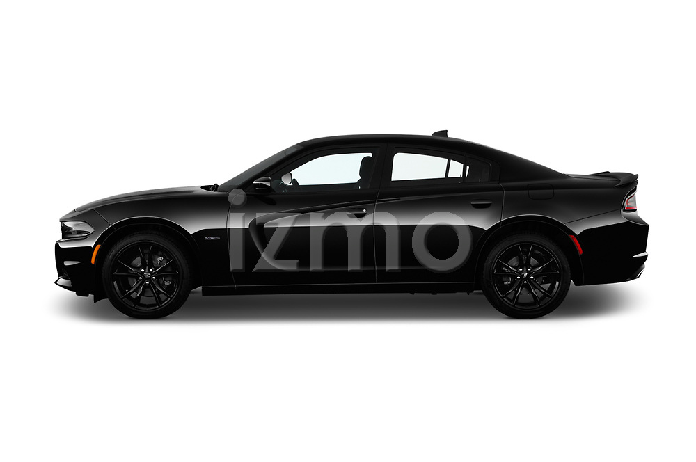 Car driver side profile view of a 2018 Dodge Charger R/T 4 Door Sedan