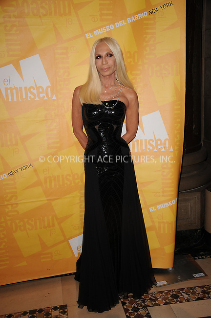WWW.ACEPIXS.COM . . . . . .May 26, 2011...New York City....Donatella Versace attends the El Museo Del Barrio Gala at Cipriani 42nd Street on May 26, 2011 in New York City.....Please byline: KRISTIN CALLAHAN - ACEPIXS.COM.. . . . . . ..Ace Pictures, Inc: ..tel: (212) 243 8787 or (646) 769 0430..e-mail: info@acepixs.com..web: http://www.acepixs.com .