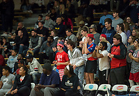 NWA Democrat-Gazette/CHARLIE KAIJO Springdale Har-Ber High School students cheer during a basketball game on Friday, January 12, 2018 at Bentonville High School in Bentonville.