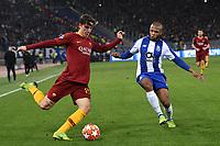Nicolo Zaniolo of AS Roma , Yacine Brahimi of Porto <br /> Roma 12-2-2019 Stadio Olimpico Football Champions League 2018/2019 round of 16 1st leg AS Roma - Porto  <br /> Foto Andrea Staccioli / Insidefoto
