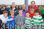 Members of the Killarney celtic Soccer Club at the Johnny Giles Walk of Dreams which started at Mounthawk soccer pitch on Sunday, Front from left Dougal Campian, Fintian Campian, Luke O'Donoghue, Peter O'Sullivan, Kacper Malinowski and James Lynch..Back from left: Anthony Haary, Antionette O'Sullivan and Dan Joe Nagle.