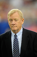 Sept. 27, 2009; Glendale, AZ, USA; Indianapolis Colts president Bill Polian against the Arizona Cardinals at University of Phoenix Stadium. Indianapolis defeated Arizona 31-10. Mandatory Credit: Mark J. Rebilas-