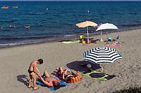 Strand von Moriani-Plage, Korsika, Frankreich