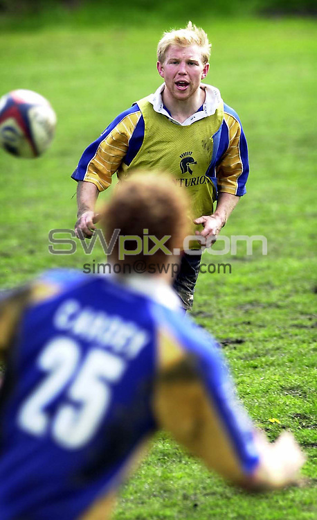 Pix: Simon Wilkinson/SWpix.com. Rugby Union feature. Leeds Tykes and England, Clive Stuart Smith. 06/05/2004...COPYRIGHT PICTURE>>SIMON WILKINSON>>01943 608782>>..Clive Stuart Smith in tarinng at the Tykes training ground today..