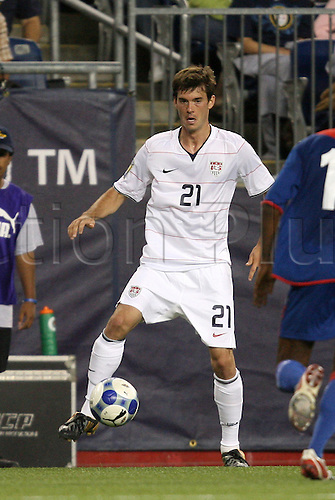 11 July 2009: Brad Evans (USA). The United States Men's National Team played the Haiti Men's National Team to a 2-2 tie at Gillette Stadium in Foxboro, Massachusetts in a 2009 CONCACAF Gold Cup first round game.(Photo by Andy Mead/ActionPlus)UK LICENSES ONLY