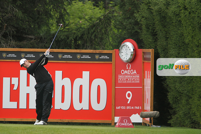 Tommy Fleetwood (ENG) on the 9th on Day 3 of the Omega European Masters 2012, Golf Club Crans-Sur-Sierre, Crans Montana, Switzerland, 01/09/12...(Photo Jenny Matthews/www.golffile.ie)