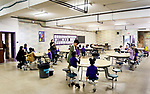 WATERBURY CT. 12 December 2018-121218SV21-The lunchroom at Brass City Charter School in the former St. Margaret's of Scotland Church in Waterbury Wednesday.<br /> Steven Valenti Republican-American