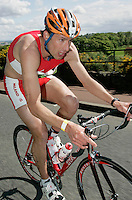 13 MAY 2006 - EDINBURGH, UK - Tom Lowe on his way to winning the Elite Mens British Duathlon Championships. (PHOTO (C) NIGEL FARROW)