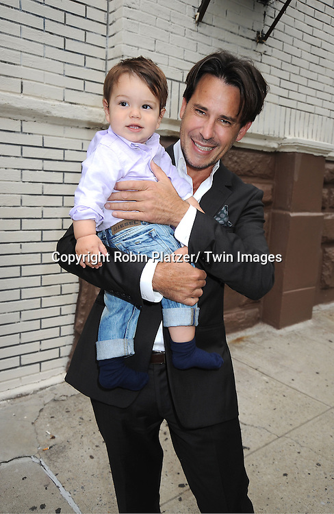 Ricky Paull Goldin and  son Kai Rei Goldin attending the Good Night Pine Valley Event co-hosted by All My Children actors Ricky Paull Goldin and Alicia Minshew on September 17, 2011 at Prohibition in New York City
