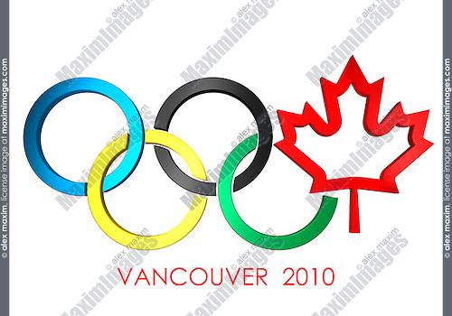 Canada Olympics Canadian Olympic Games Symbol Stock Illstration