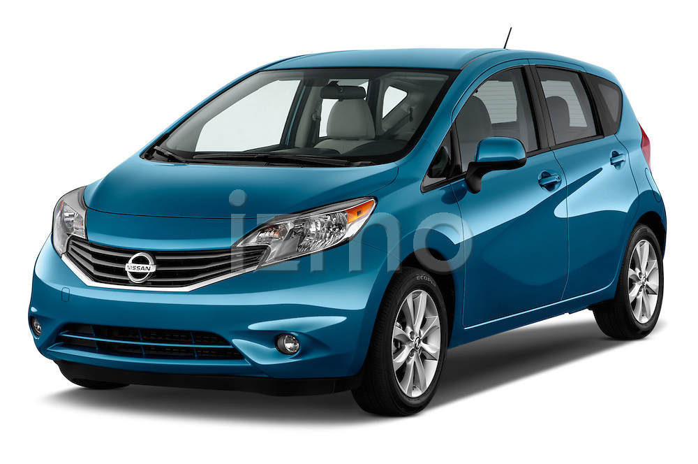 Front three quarter view of a 2014 Nissan Versa Note SV SL Hatchback 2014 Nissan Versa Note SV SL Hatchback