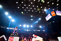 2nd February 2020; Palau Sant Jordi, Barcelona, Catalonia, Spain; X Trail Mountain Biking Championships; Benoit Bincaz (France) of the Beta Team in action during the X-Trail indoor Barcelona