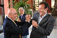 Adriano Galliani Ac Milan's manager and Massimo Cellino President of Cagliari<br /> Roma 25/7/2008 Coni Salone d'onore<br /> Compilazione calendari calcio Serie A e B 2008/2009<br /> Draw of football matches Serie A schedule<br /> Foto Andrea Staccioli Insidefoto