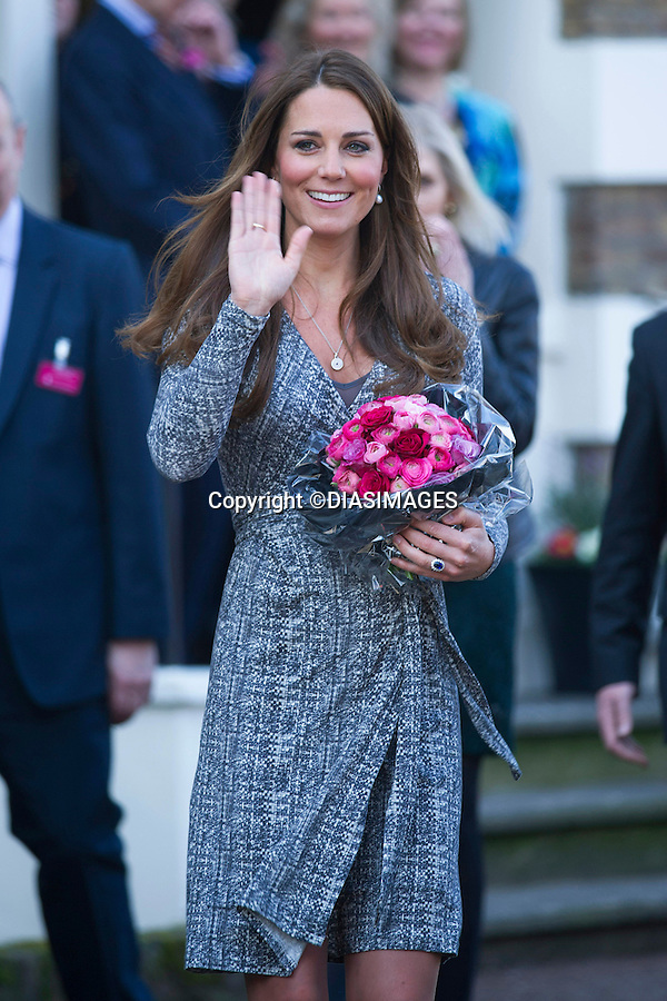 """CATHERINE, DUCHESS OF CAMBRIDGE .makes her first public appearance of the New Year when she visited Hope House, Clapham, London_19/02/2013.The Duchess of Cambridge Is Patron, Action on Addiction..Mandatory credit photo:©DiasImages/NEWSPIX INTERNATIONAL..(Failure to credit will incur a surcharge of 100% of reproduction fees)..**ALL FEES PAYABLE TO: """"NEWSPIX  INTERNATIONAL""""**..Newspix International, 31 Chinnery Hill, Bishop's Stortford, ENGLAND CM23 3PS.Tel:+441279 324672.Fax: +441279656877.Mobile:  07775681153.e-mail: info@newspixinternational.co.uk"""