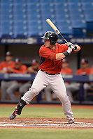 Boston Red Sox catcher Jordan Procyshen (34) during an Instructional League game against the Tampa Bay Rays on September 25, 2014 at Tropicana Field in St. Petersburg, Florida.  (Mike Janes/Four Seam Images)