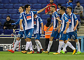 30th October 2017, Cornella-El Prat, Cornella de Llobregat, Barcelona, Spain; La Liga football, Espanyol versus Real Betis; Espanyol players celebrates their goal