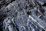 Igneous intrusive dyke feature in sea cave at Ajuy, Fuerteventura, Canary Islands, Spain