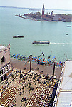 Venice from San Marco across the busy Giudecca Canal to San Giorgio from the Campanile (tower)
