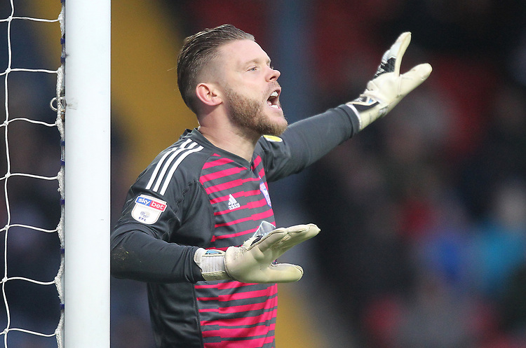 Ipswich Town's Dean Gerken<br /> <br /> Photographer Mick Walker/CameraSport<br /> <br /> The EFL Sky Bet Championship - Blackburn Rovers v Ipswich Town - Saturday 19 January 2019 - Ewood Park - Blackburn<br /> <br /> World Copyright &copy; 2019 CameraSport. All rights reserved. 43 Linden Ave. Countesthorpe. Leicester. England. LE8 5PG - Tel: +44 (0) 116 277 4147 - admin@camerasport.com - www.camerasport.com