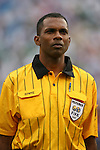 10 June 2007: Referee Lee Davis (TRI). The Panama and Cuba Men's National Teams tied 2-2 at Giants Stadium in East Rutherford, New Jersey in a first round game in the 2007 CONCACAF Gold Cup.