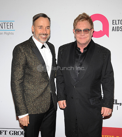 New York,NY- October 28: David Furnish, Elton John attends the Elton John AIDS Foundation's 13th Annual An Enduring Vision Benefit at Cipriani Wall Street on October 28, 2014 in New York City In New York City on October 27, 2014 . Credit: John Palmer/MediaPunch