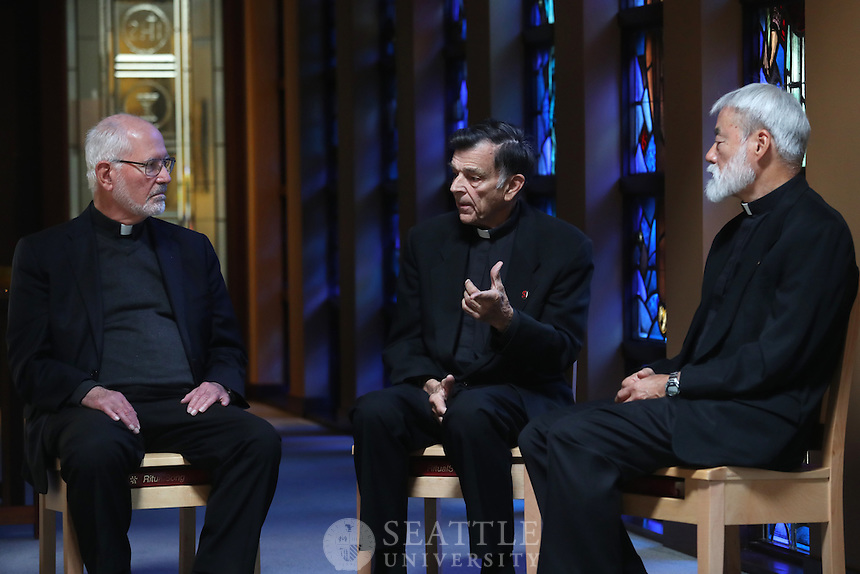 October 6th 2016 - Jesuit Round table with Fr. Peter Ely, Fr. Natch Ohno and Fr. John Topel for the 125th anniversary.