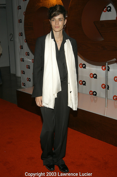 NEW YORK - SEPTEMBER 4: Model Amanda Moore arrives September 4, 2003, at the debut party for GQ's new editor-in-chief Jim Nelson at Hudson Studios in New York City.