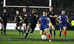 All Black Sitiveni Sivivatu in action during the first international rugby test at Eden Park, Auckland, New Zealand, Saturday, June 02, 2007. The All Blacks beat France 42-11.