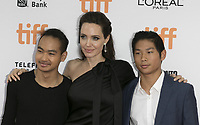 www.acepixs.com<br /> <br /> September 11 2017, Toronto<br /> <br /> (L-R) Maddox Jolie-Pitt, Angelina Jolie and Pax Thien Jolie-Pitt arriving at the premiere of 'First They Killed My Father' during the 42nd Toronto International Film Festival at the Princess of Wales Theatre on September 11 2017 in Toronto, Canada<br /> <br /> <br /> By Line: Famous/ACE Pictures<br /> <br /> <br /> ACE Pictures Inc<br /> Tel: 6467670430<br /> Email: info@acepixs.com<br /> www.acepixs.com