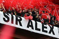 Pictured: Manchester United supporters. <br /> Sunday 12 May 2013<br /> Re: Barclay's Premier League, Manchester City FC v Swansea City FC at the Old Trafford Stadium, Manchester.