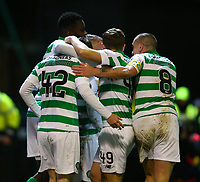 5th February 2020; Fir Park, Motherwell, North Lanarkshire, Scotland; Scottish Premiership Football, Motherwell versus Celtic; Leigh Griffiths of Celtic celebrates as he makes it 2-0 to Celtic in the 51st minute